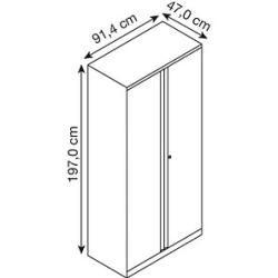 Bisley steel cabinet Essentials gray Bisley
