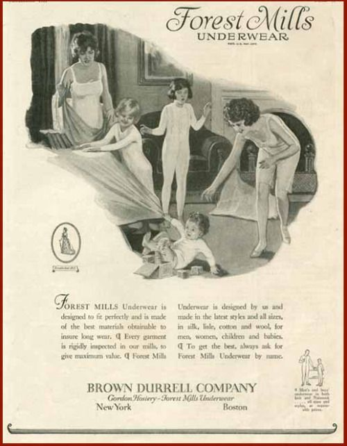 1923 ladies underwear ad | 1920\'s Lingerie and Bathing Suits | Pinterest