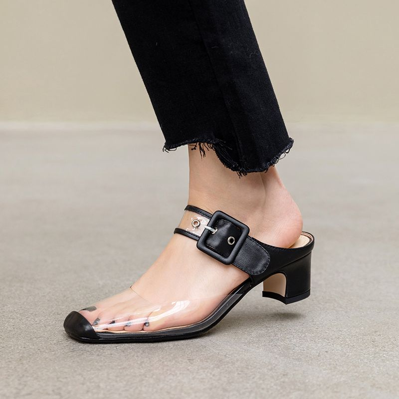 Shelbie Black Ankle Strap Heels
