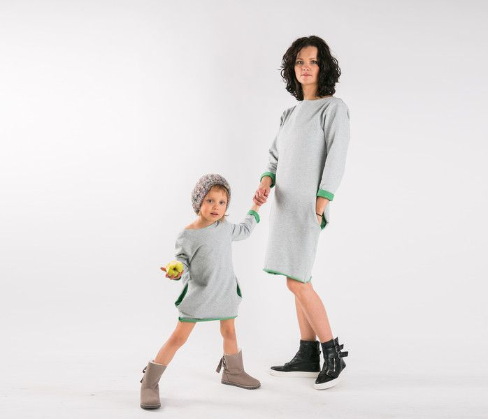Tunika Dresowa Twoface Zielen Dla Mamy I Corki Kids Wear Mom Kid Clothes