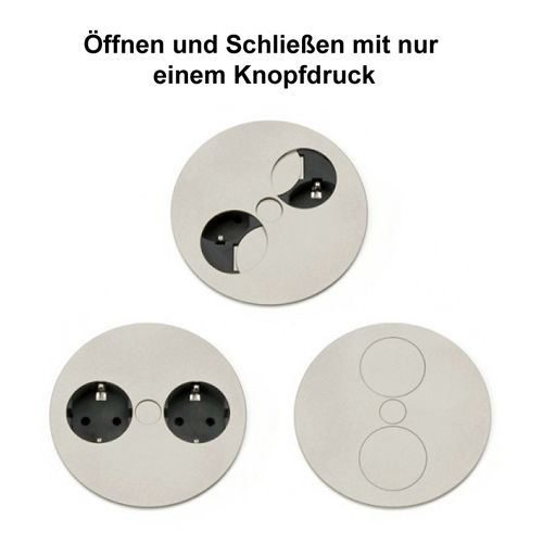 2 Fach Steckdose Twist Zum Einbau In Arbeitsplatten Tischsteckdose Steckdose Doppel Steckdose Steckdosen Ku Stopcontact Aanrechtblad Keukeninrichting