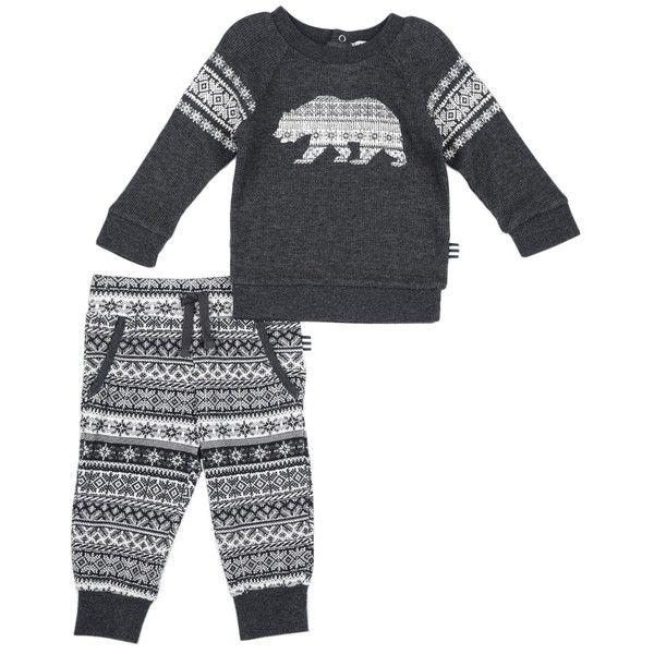 Splendid Baby Boy Fair Isle Thermal Set ($34) ❤ liked on Polyvore ...