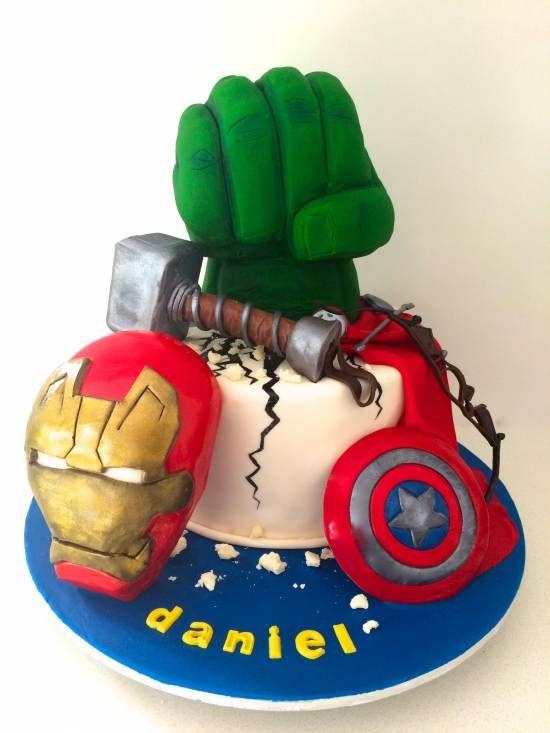 Pin by marcia sloan on birthday cakes pinterest avenger cake hulks hand by kamicakes i cant maxwellsz