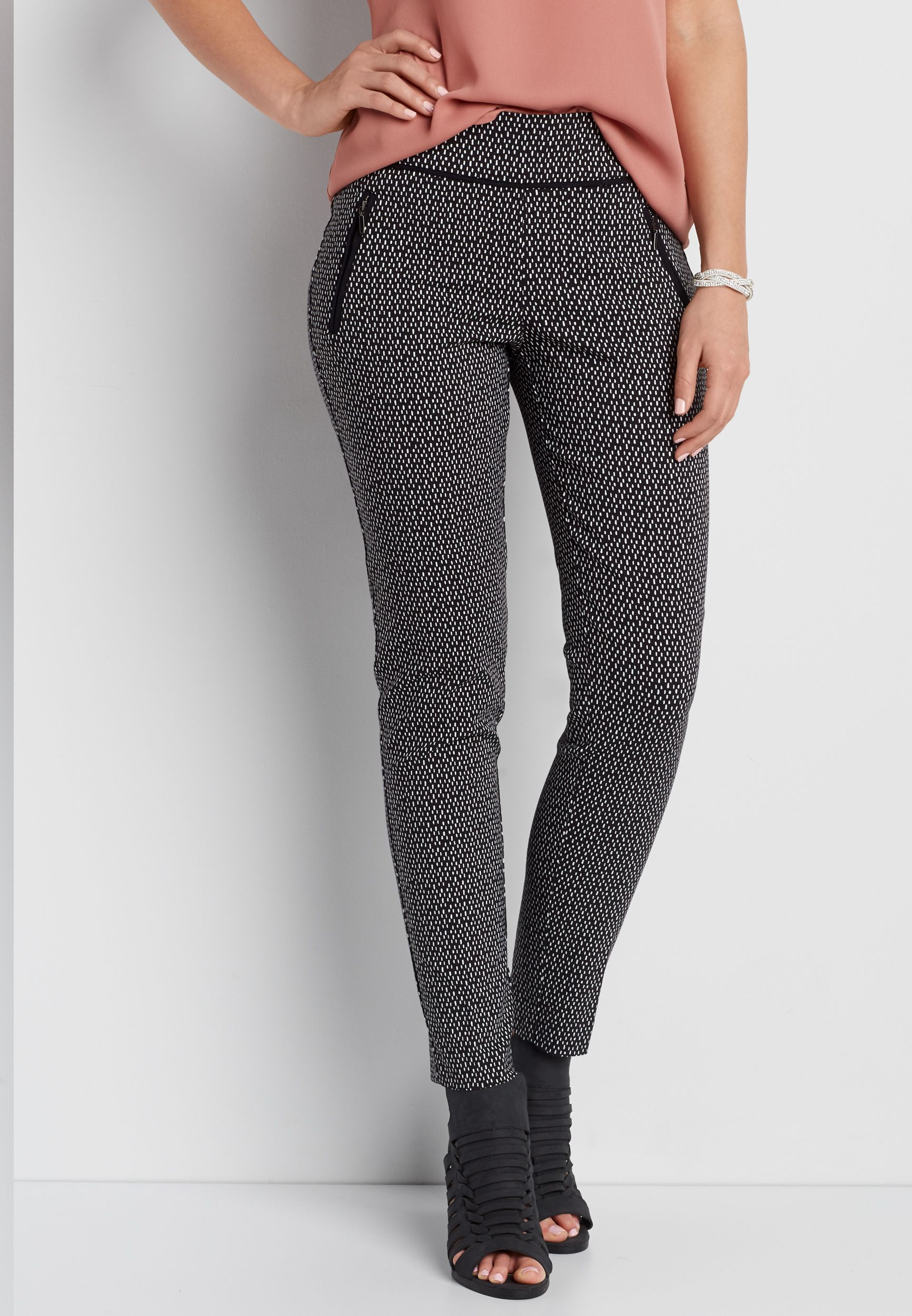 0a7ca16dfc4 the smart IT fit patterned pull on skinny ankle pant with piping (original  price