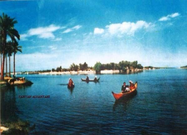 ملتقى نهر دجلة بنهر الفرات وشط العرب Baghdad Iraq Mesopotamia Homeland