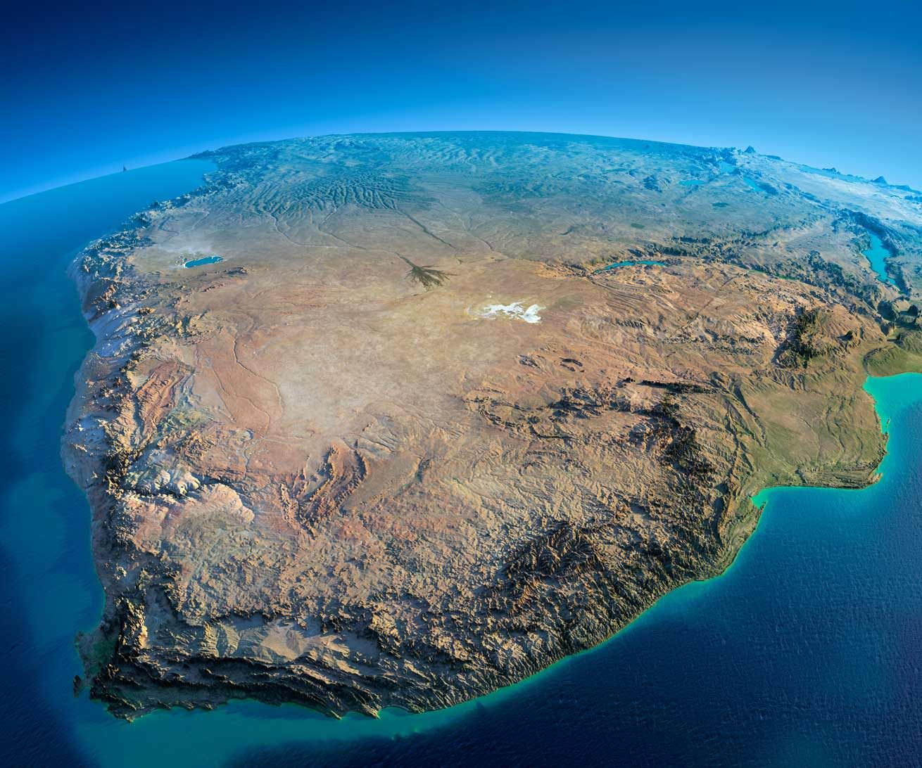 Relief Map Of Southern Africa.Exaggerated Relief Map Of Southern Africa In 2019 Aerial