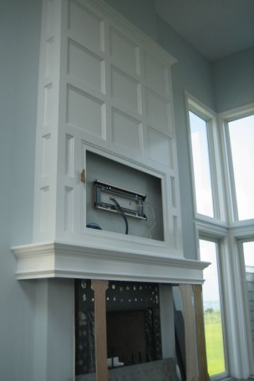 Beautiful Millwork Fireplace And Surround Home Over