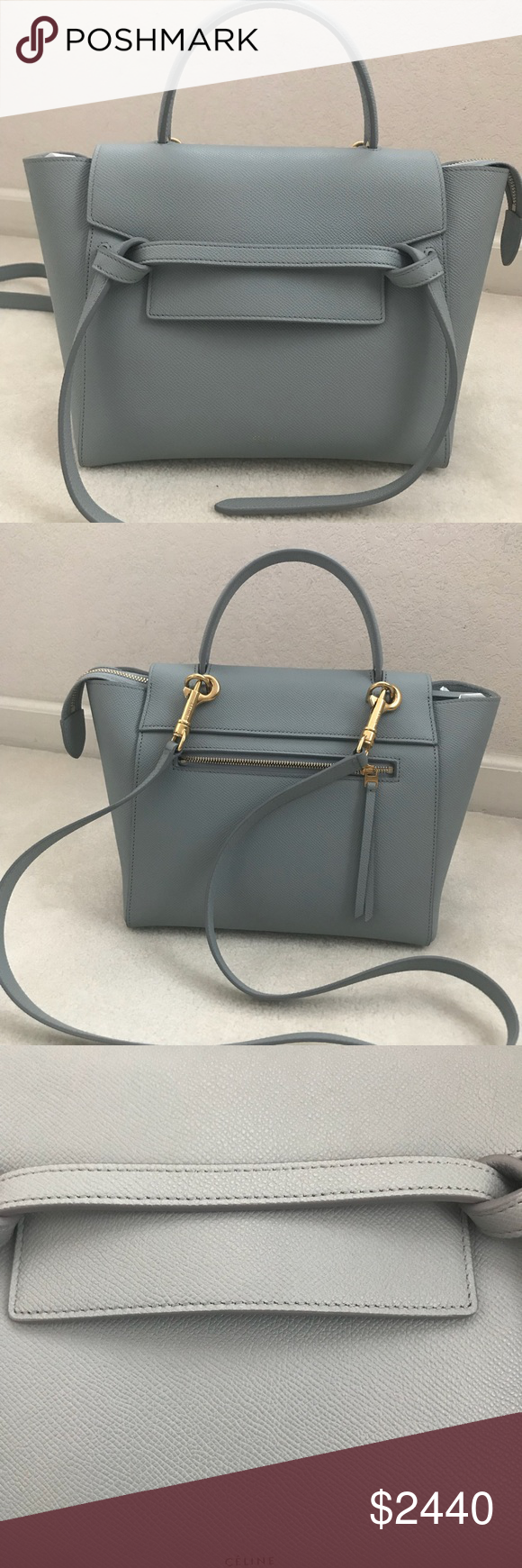 f2416957a9 Celine Micro Belt Bag in Cloud Like New Pristine condition. No flaws to  mention. Stunning sought after cloud blue color. Perfect for the spring and  summer ...