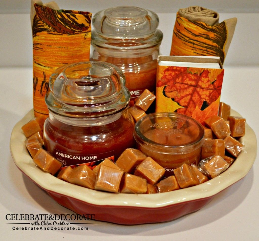 how to create an autumn hostess gift basket | for the home