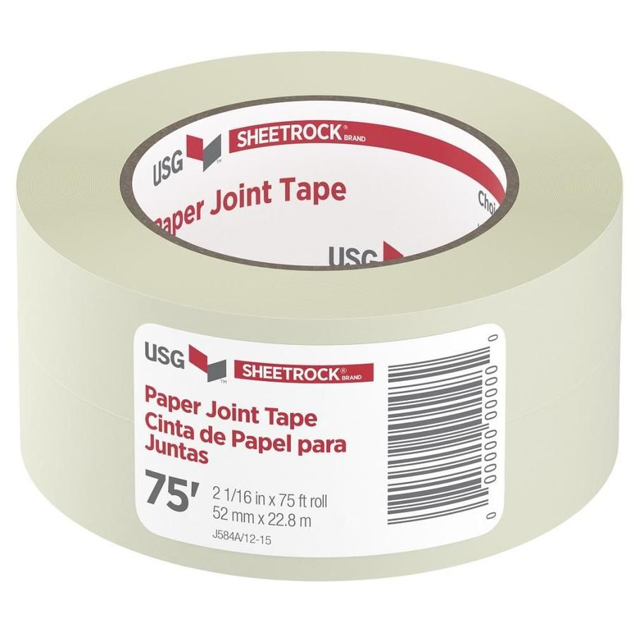 SHEETROCK Brand 2 0625-in x 75-ft Solid Joint Tape at Lowes
