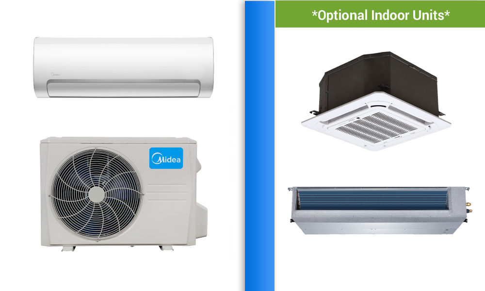 Ductless Midea 9000 Btu In Minisplitwarehouse Com We Can Help You Find Exactly What Heat Pump Air Conditioner Ductless Mini Split Air Conditioning Installation