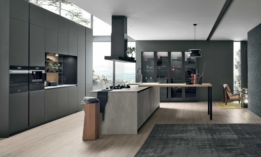 Aliant Cucine Scure Arredomania Kitchen Design In 2019 Kitchen