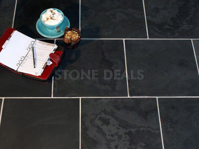 how to clean black floor slate shower tiles