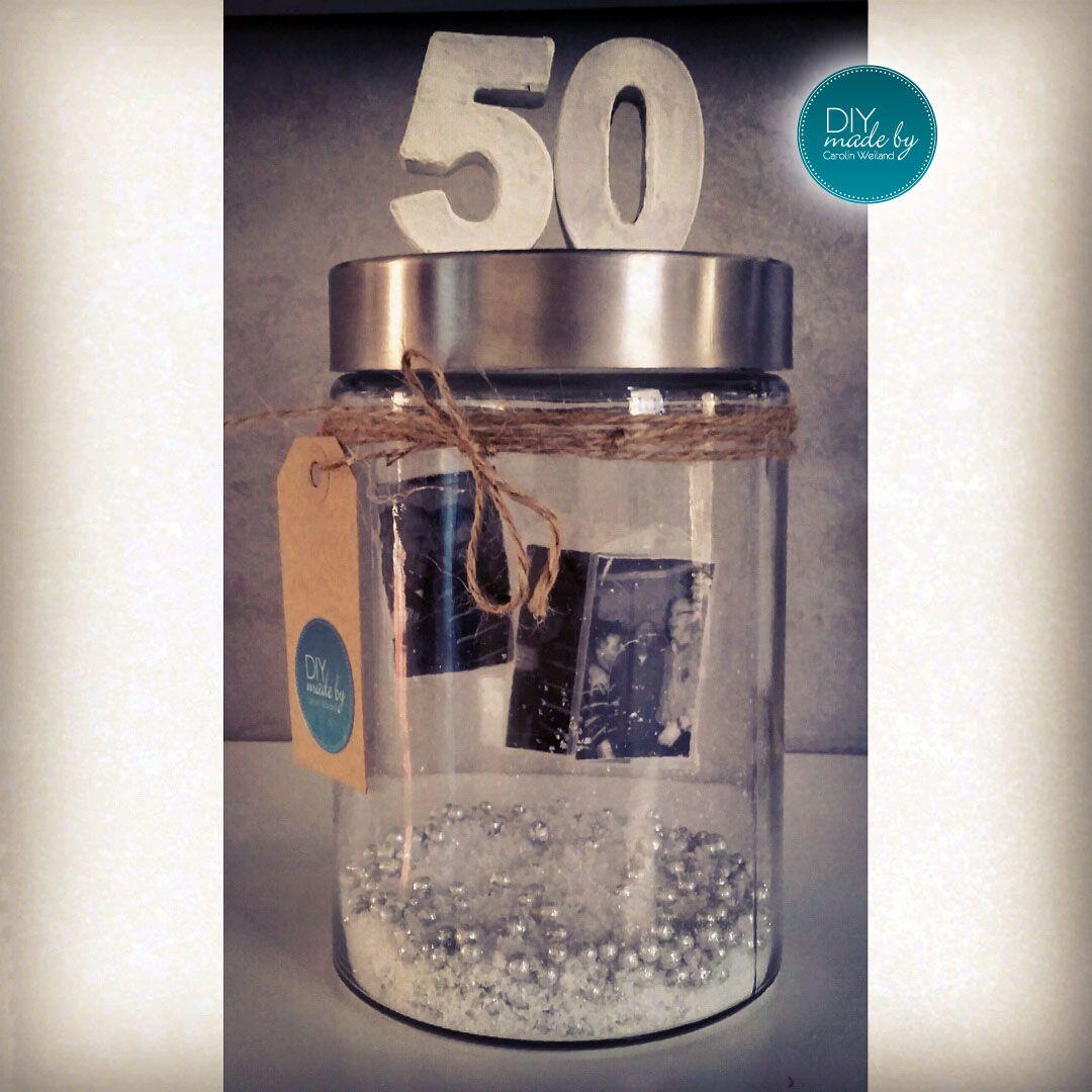 Geburtstagsgeschenk Diy made bei Carolin Weiland 50. Geburtstag Present Gift http://instagram.com/diy.carolin.weiland/