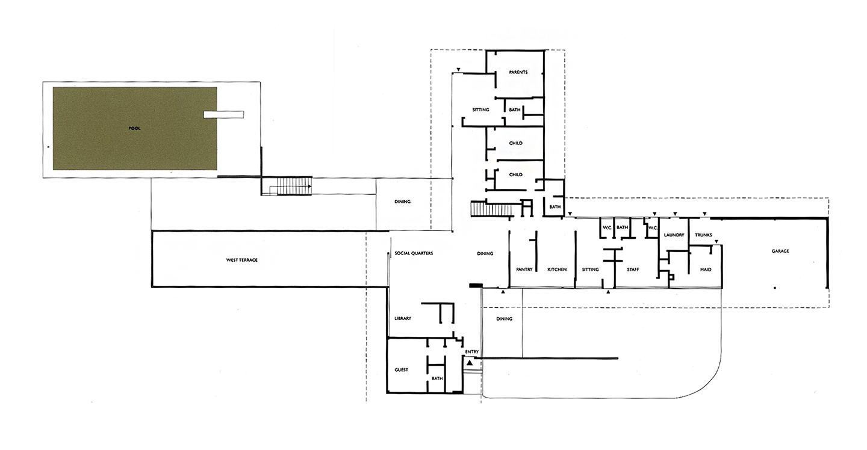 Tremaine House Richard Neutra Julius Shulman California Modernism International Style Richard Neutra Floor Plans Modern Architecture