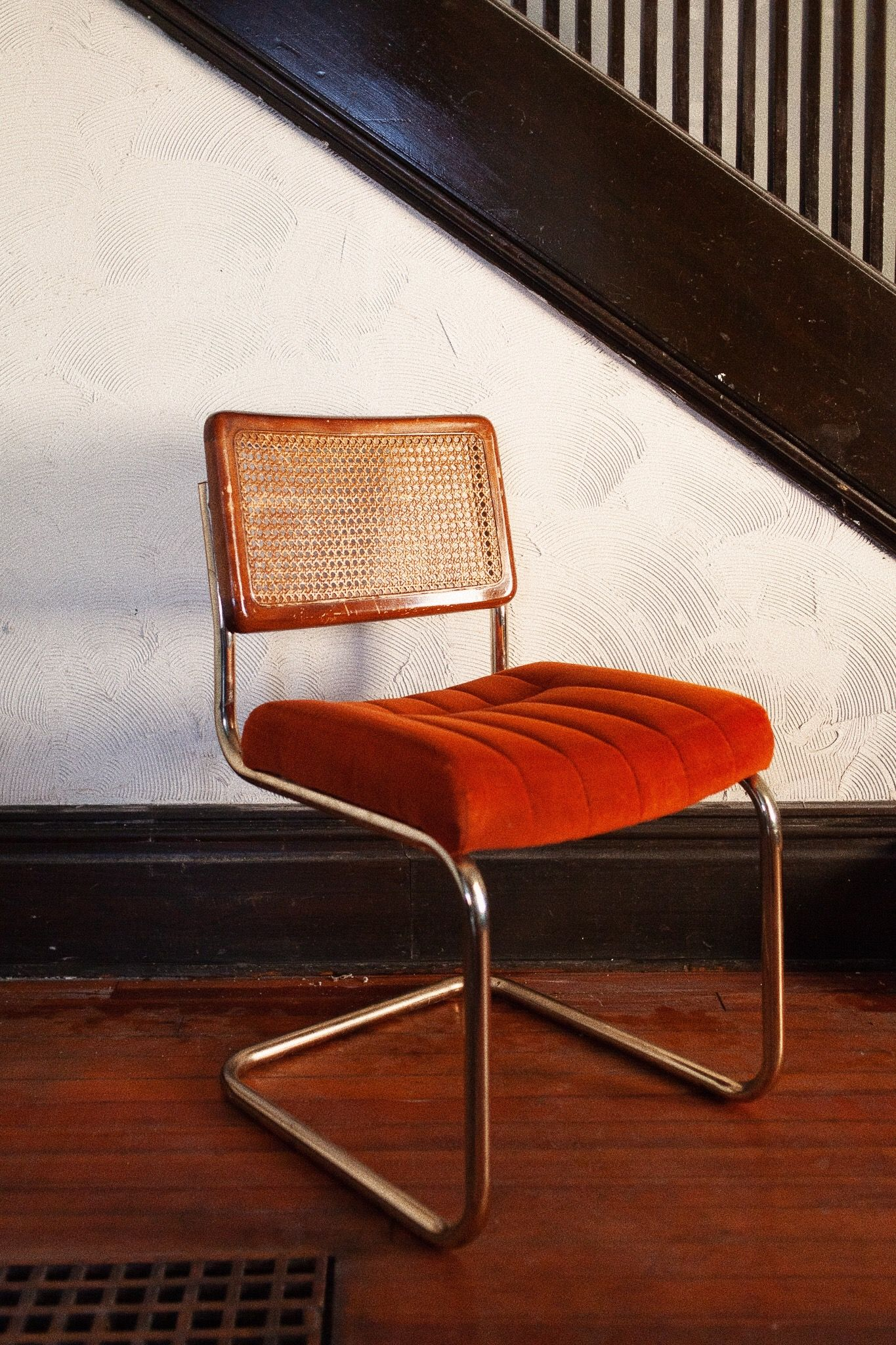 Excellent Vintage Marcel Breuer Dining Chairs Orange Upholstery Pdpeps Interior Chair Design Pdpepsorg