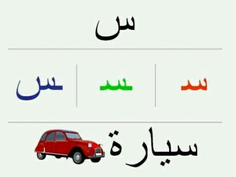 S س سيارة Car Learning Arabic Learn Arabic Online Arabic Language