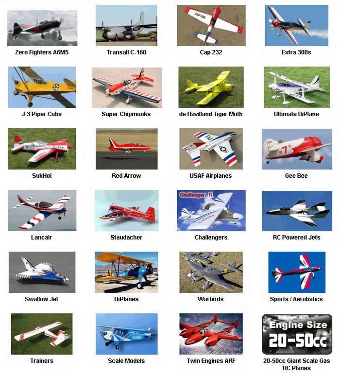 Berbagai Model Pesawat Remote Control