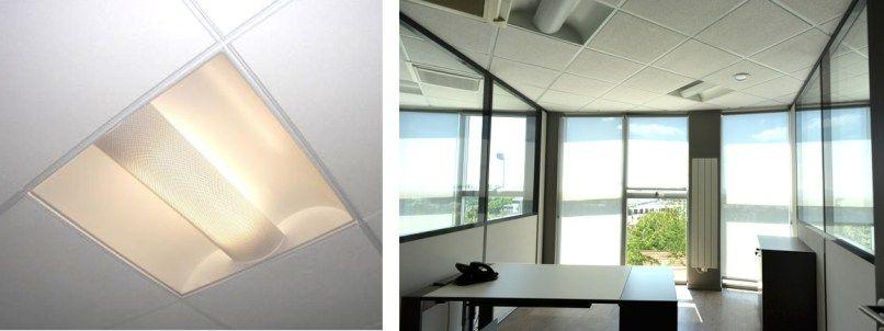 Luminaire de bureau plafond en dalles office Pinterest