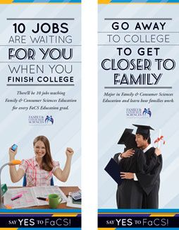 "Say ""Yes!"" to Family and Consumer Sciences by encouraging and promoting FaCS education degrees with this poster set.  $14.95"