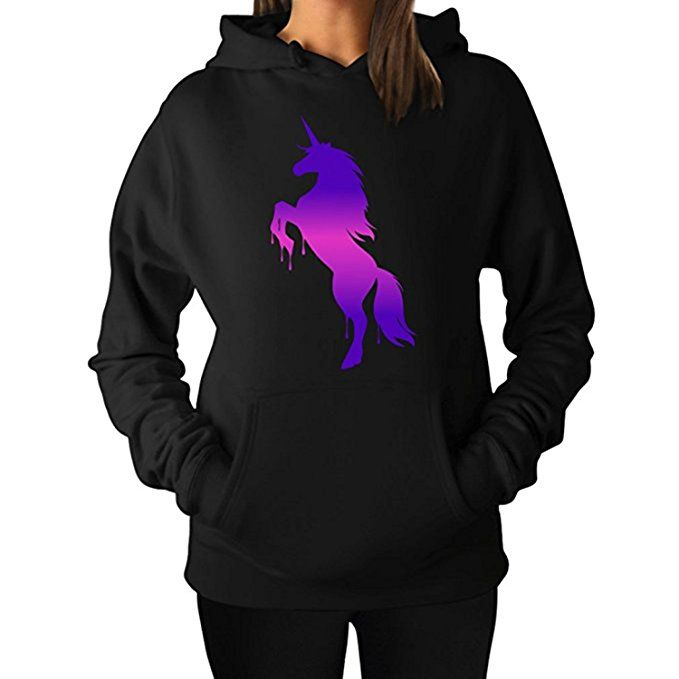 bbf78a5e1a5 ZMvise Dabing Unicorn Long Sleeve Funny Unisex Comfortable Girl Boy Men  Women Hoodie Sweatshirts