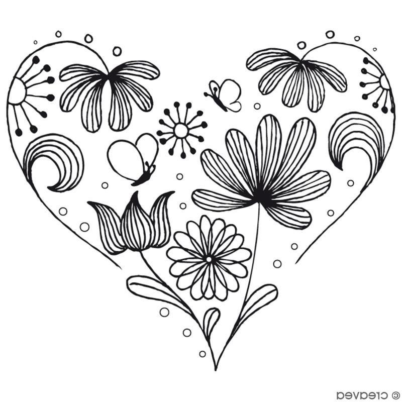 Coloriage Coeur Fleur 12 Localement Coloriage Coeur Fleur