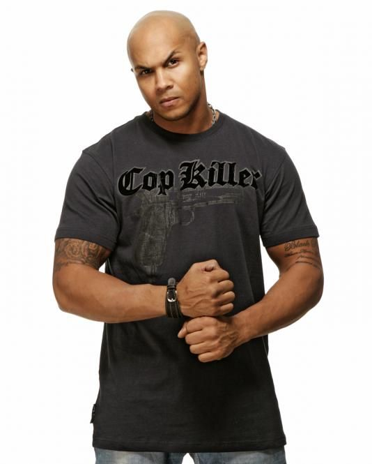 "Thug Life T-Shirt ""Cop Killa"" 9mm Dunkelblau"