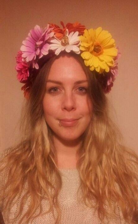 flower power. Head dress for a 60's editorial shoot.