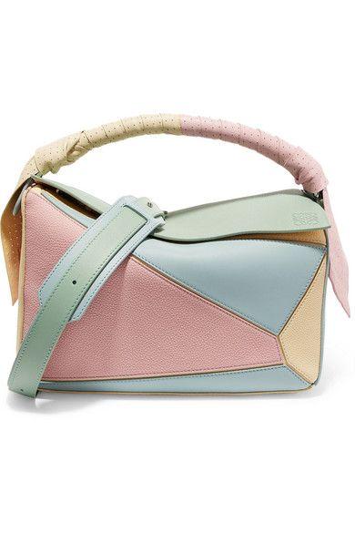 9574612bef Loewe Puzzle color-block leather shoulder bag