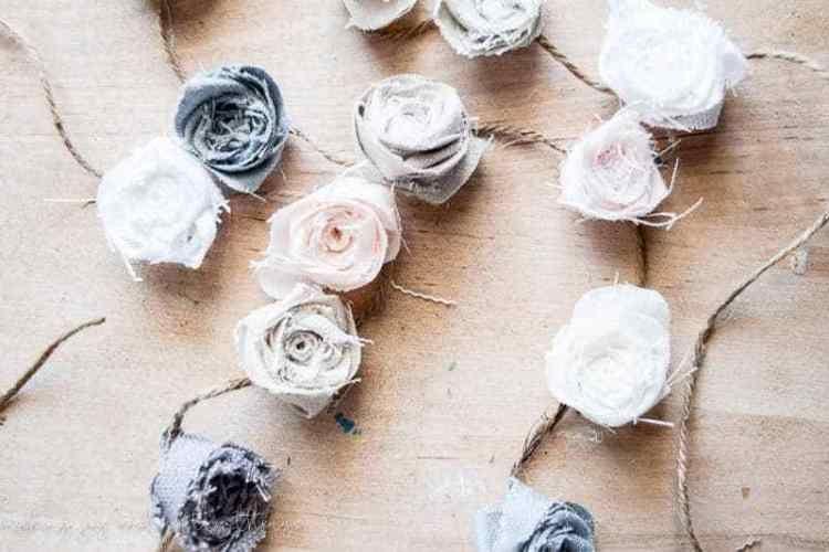 DIY Fabric Floral Garland
