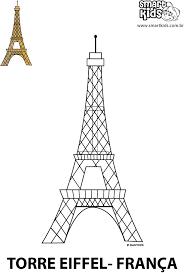 Resultado De Imagem Para Molde Da Torre Eiffel Para Imprimir