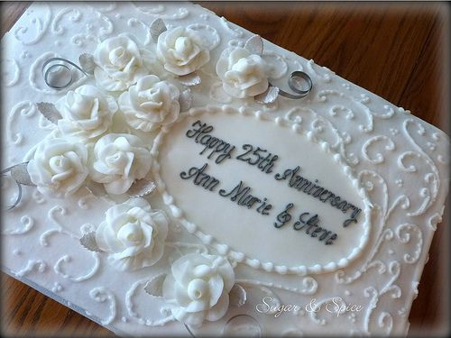 Cake Sheets For 25th Wedding Anniversary 25th Anniversary With