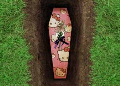 Yes That Is A Real Hello Kitty Coffin You Can Go To Hello Kitty