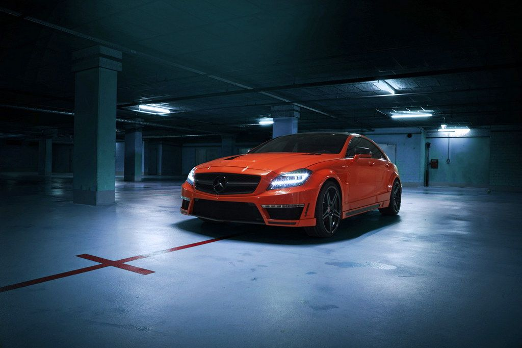 Gsc Mercedes Cls63 Amg In Bright Orange Custom Mercedes Benz