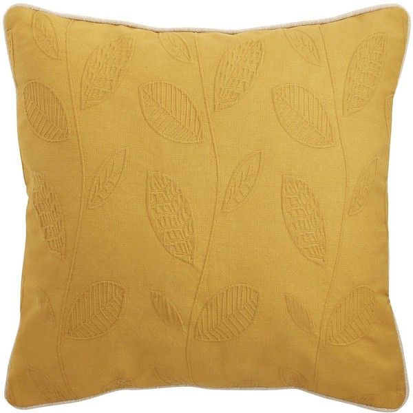 Pier 1 Imports Yellow Woven Leaf Pillow (56 SAR) ❤ liked on Polyvore featuring home, home decor, throw pillows, yellow, yellow outdoor throw pillows, autumn home decor, outside home decor, fall home decor and inspirational home decor