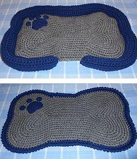 Dog Bone Mat And Bed Pattern By Carol Ballard Crochet Dog Patterns Crochet Crochet Patterns