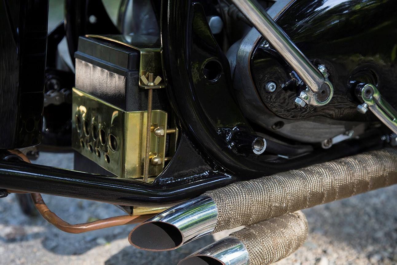 Custom Brass Battery Box Rear Mount Tucked In Behind Engine