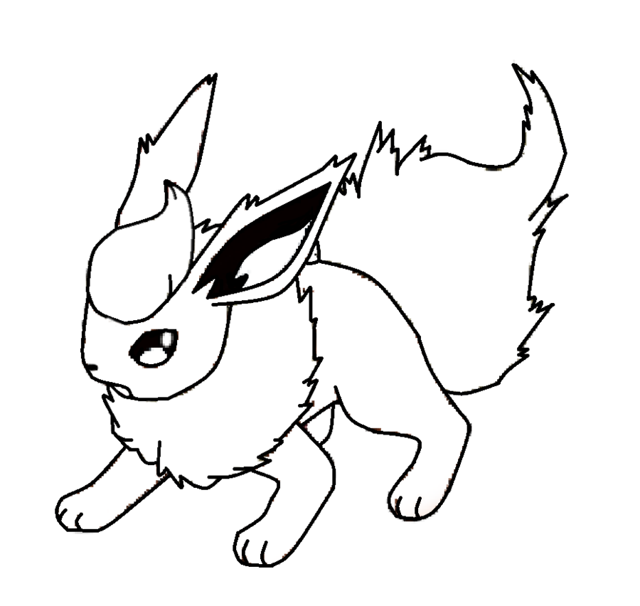 Flareon Template By Shadowxmephiles On Deviantart Pokemon Coloring Pages Pokemon Coloring Horse Coloring Pages