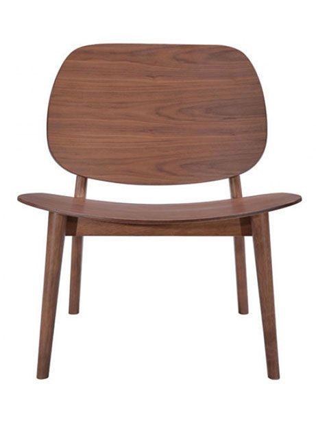 Fleet Walnut Wood Accent Chair | Modern Furniture U2022 Brickell Collection