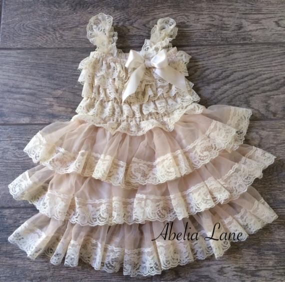 Photo of Lace Flower girl dress,ivory lace dress,baby lace dress,country flower girl dress,birthday dress,vintage flower girl dress