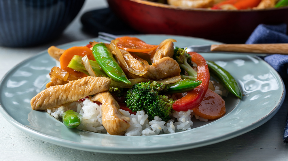 Vegetable and Chicken Stir-Fry Recipe