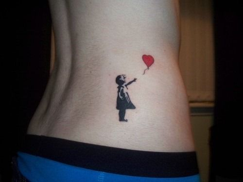 banksy balloon girl tattoos for women and girls (1)www