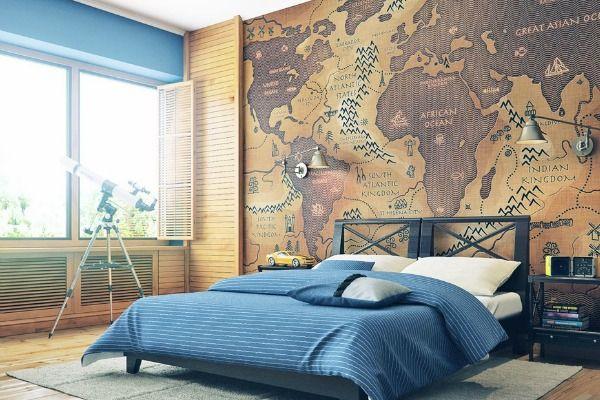 Unesite Vintage Sarm U Dom Dekorisite Zidove Mapom Interior