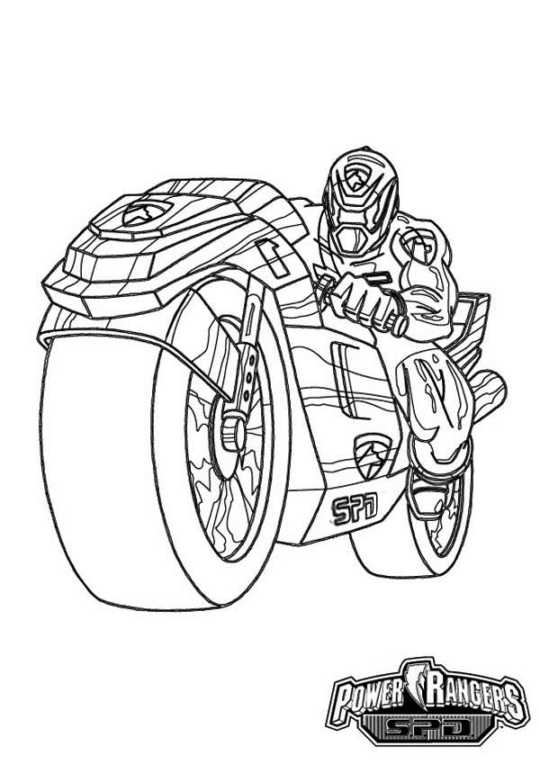 Power Rangers Spd On Super Cool Motorcycle Coloring Page Color Luna Power Rangers Coloring Pages Coloring Pages Original Power Rangers