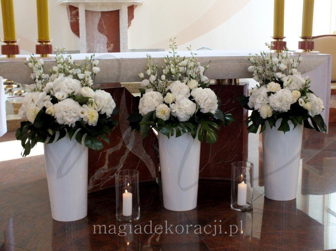 Dekoracja Kosciola Altar Arrangement Church Flowers Church Flower Arrangements