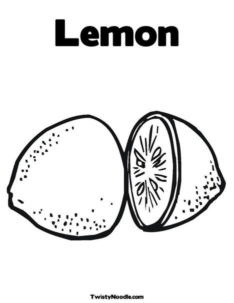 Lemon Coloring Page Coloring Pages Lemon Pictures Lemon Drawing