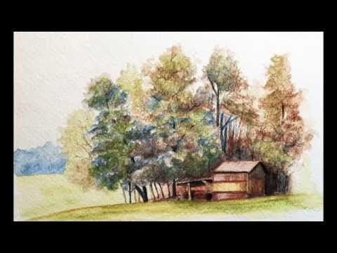 Landscape With Watercolor Pencils Excerpts The Virtual Instructor