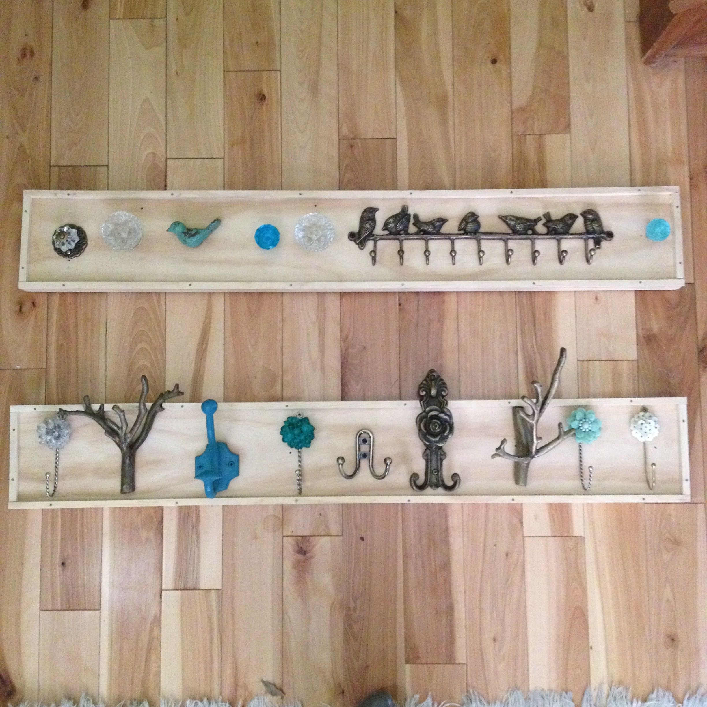 Diy jewelry and scarf hangers hooks from urban outfitters for Home depot arts and crafts