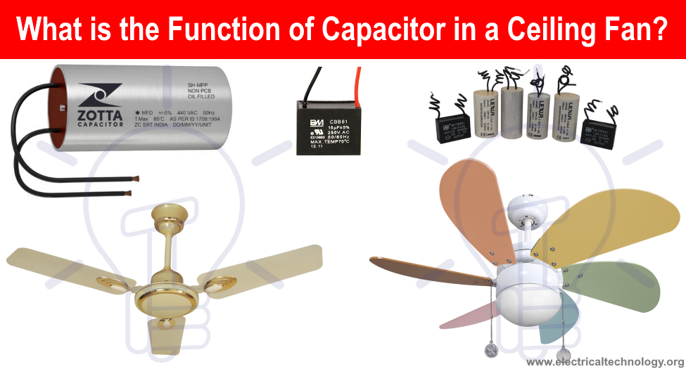 What Is The Role Of Capacitor In A Ceiling Fan Electrical Technology Ceiling Fan Capacitor Fan