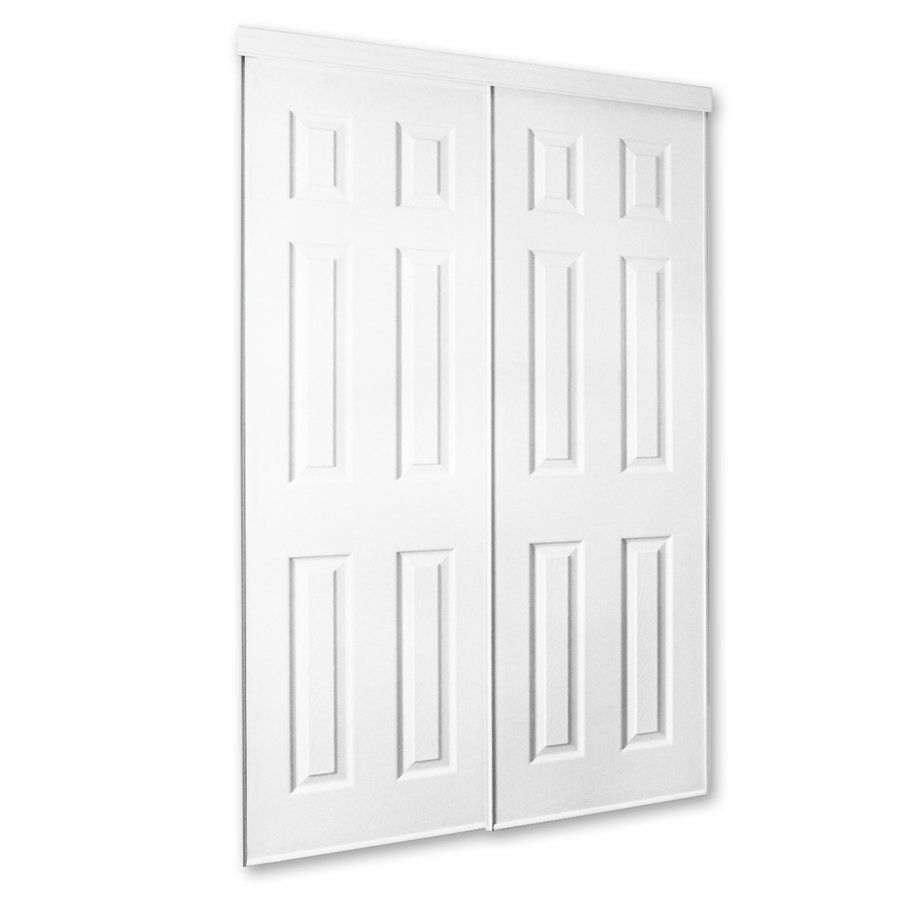 Shop Unbranded White Molded Sliding Closet Door At Lowes Canada